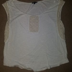 American Eagle Blouse with crochet embellishments